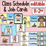 Classroom Jobs and Schedule Cards Ocean Theme EDITABLE