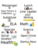 Classroom Jobs and Schedule Labels