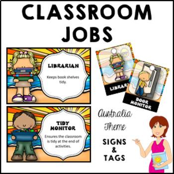 AUSTRALIA Classroom Jobs and Student Brag Tags