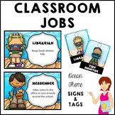 Classroom Jobs and Student Brag Tags OCEAN