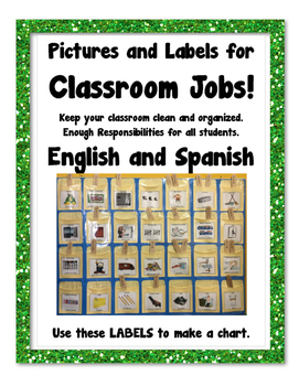 Classroom Jobs and Student Responsibilities - English and Spanish