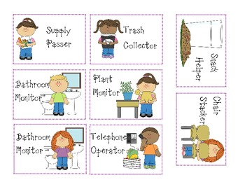 Classroom Jobs and Where did I go? with numbers