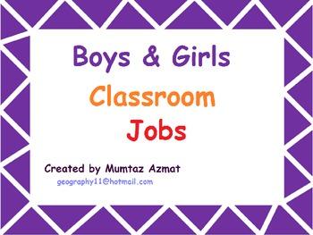 Classroom Jobs ( boys & girls ) :