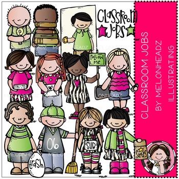 Melonheadz: Classroom Jobs clip art - COMBO PACK