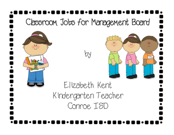 Classroom Jobs cards for management board
