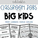 Classroom Jobs for Big Kids