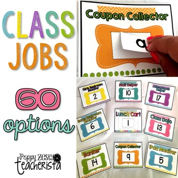 Classroom Jobs for Classroom Economy