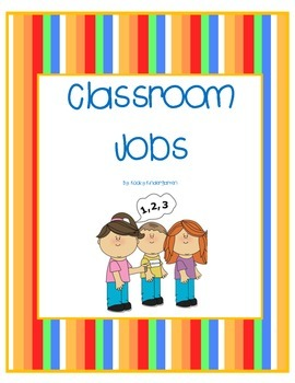 Classroom Jobs for Elementary Classrooms