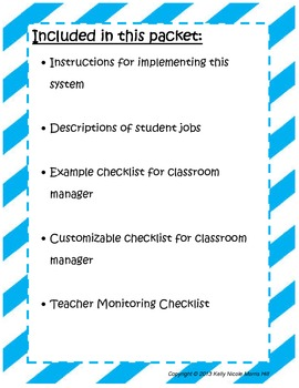 Classroom Jobs for Every Student