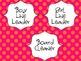 Classroom Jobs for Everyone Orange/Pink Polka Dots