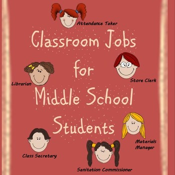 Classroom Jobs for Middle School Students