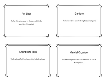 Classroom Jobs for Older Students
