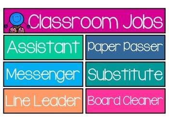 Classroom Jobs for Pocket Charts
