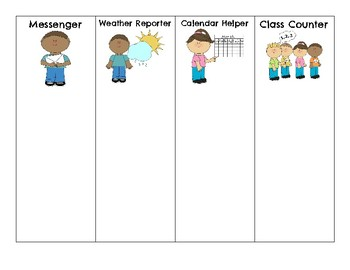 Classroom Jobs for Primary Grades
