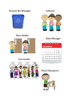 Classroom Jobs for Students