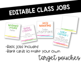 EDITABLE Classroom Jobs for Target Adhesive Pouches