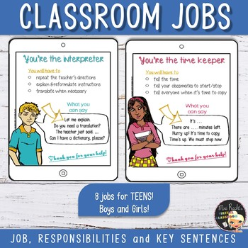 Classroom Jobs for Teens!