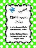 Classroom Jobs for Upper Elementary