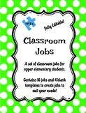Classroom Jobs for Upper Elementary