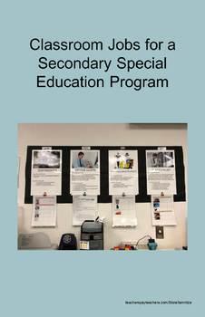Classroom Jobs for a Secondary Classroom