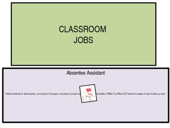 Classroom Jobs - for any classroom!
