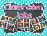 Classroom Jobs in BRIGHT Polka Dot & Chalkboard and EDITABLE Job Cards
