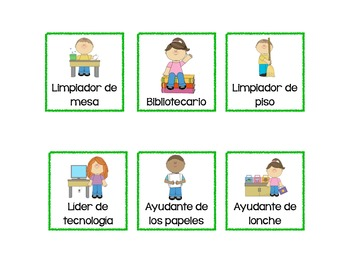 Bilingual Classroom Jobs Cards English And Spanish Tpt