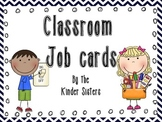 Classroom Jobs in Navy Chevron
