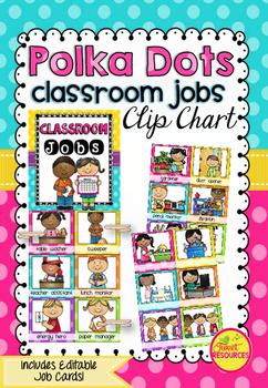 Classroom Jobs in Polka Dots (A4 size)