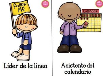 Classroom Jobs in Spanish