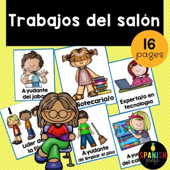 Classroom Jobs in Spanish (Trabajos / Ayudantes del salon)
