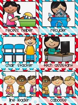 Classroom Jobs in a Dr S Decor Theme
