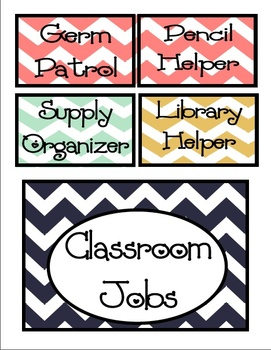 Classroom Jobs labels and title