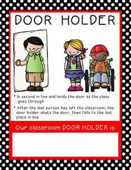 Classroom Jobs posters - Polka Dots