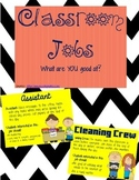 Classroom Jobs ppt