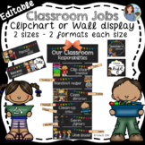 Classroom Jobs Chalkboard EDITABLE {Clip Chart or Wall Display}