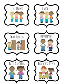 classroom job clipart teaching resources teachers pay teachers rh teacherspayteachers com classroom helper clip art preschool pdf classroom helper clipart line leader