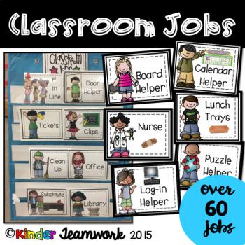 Classroom Jobs with Kids Theme