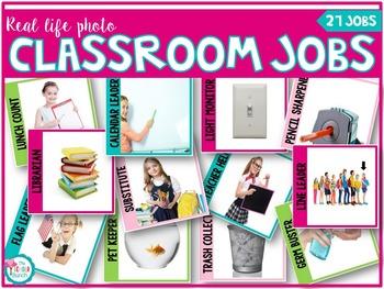 Classroom Jobs with Real Life Photos