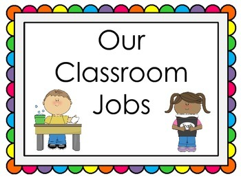 Classroom Jobs with Visuals