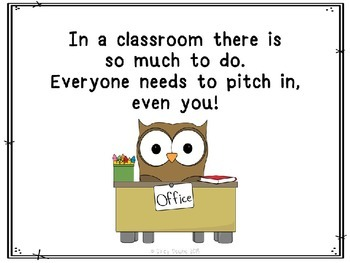 Classroom Job Kit: A rhyming social story and job chart pictures