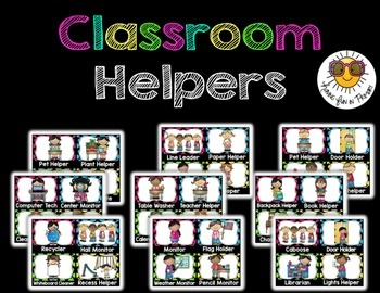 Classroom Jobs/Classroom Helper {Editable} - Black and Bri