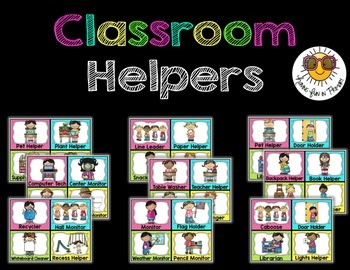 Classroom Jobs/Classroom Helpers {Editable} - Bright Polka