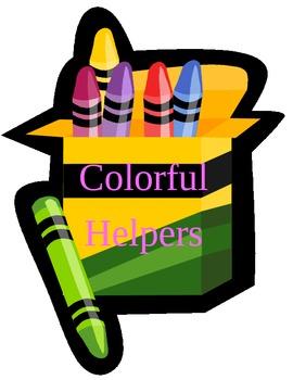 Classroom Jobs~Crayon