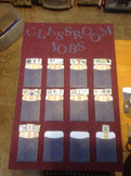 Classroom Job Chart AND Job Descriptions. Completely EDITABLE!