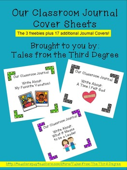 Classroom Journal Cover Sheets Full Edition 1