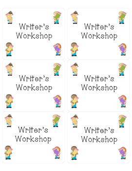 Classroom Journal Labels