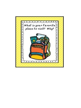 Classroom Journal Prompt Labels