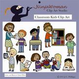 Classroom Kids CLip Art