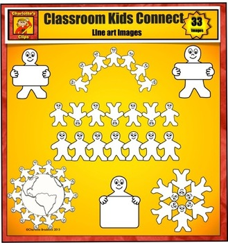 Classroom Kids Connect Clip Art by Charlotte's Clips